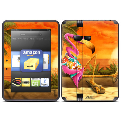 Amazon Kindle Fire HD (2012) Skin - Sunset Flamingo