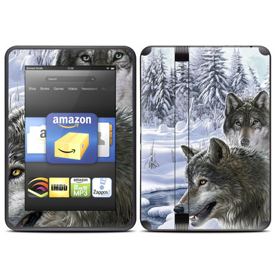 Amazon Kindle Fire HD (2012) Skin - Snow Wolves
