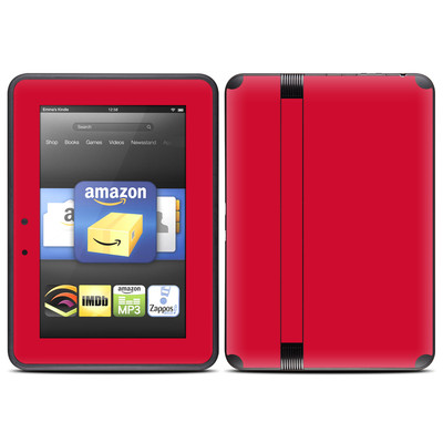 Amazon Kindle Fire HD (2012) Skin - Solid State Red