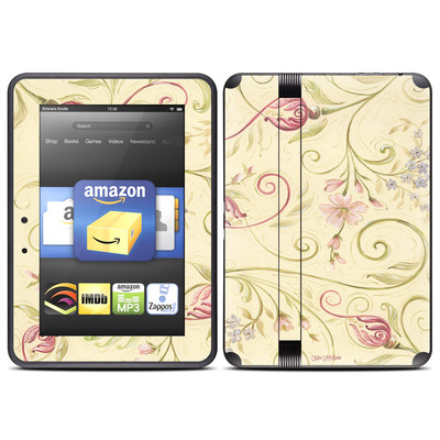 Amazon Kindle Fire HD (2012) Skin - Tulip Scroll