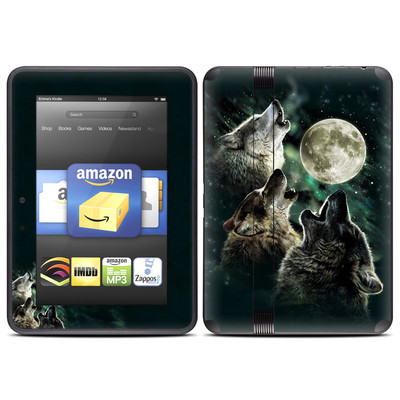 Amazon Kindle Fire HD (2012) Skin - Three Wolf Moon