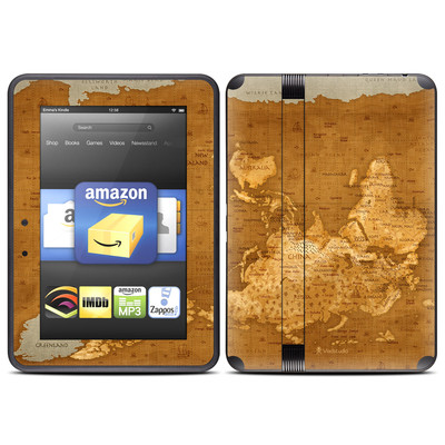 Amazon Kindle Fire HD (2012) Skin - Upside Down Map