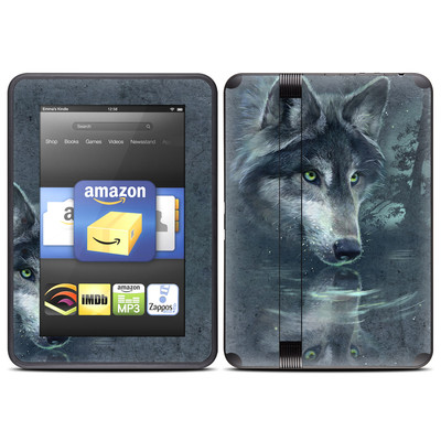 Amazon Kindle Fire HD (2012) Skin - Wolf Reflection
