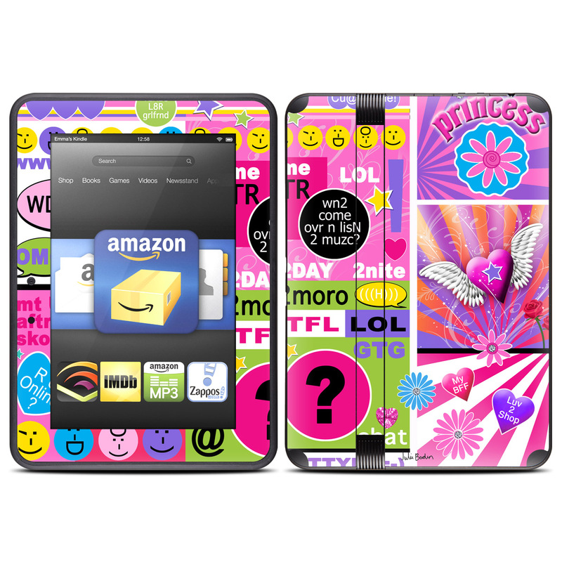 check out 04f72 c9791 Amazon Kindle Fire HD (2012) Skin - BFF Girl Talk
