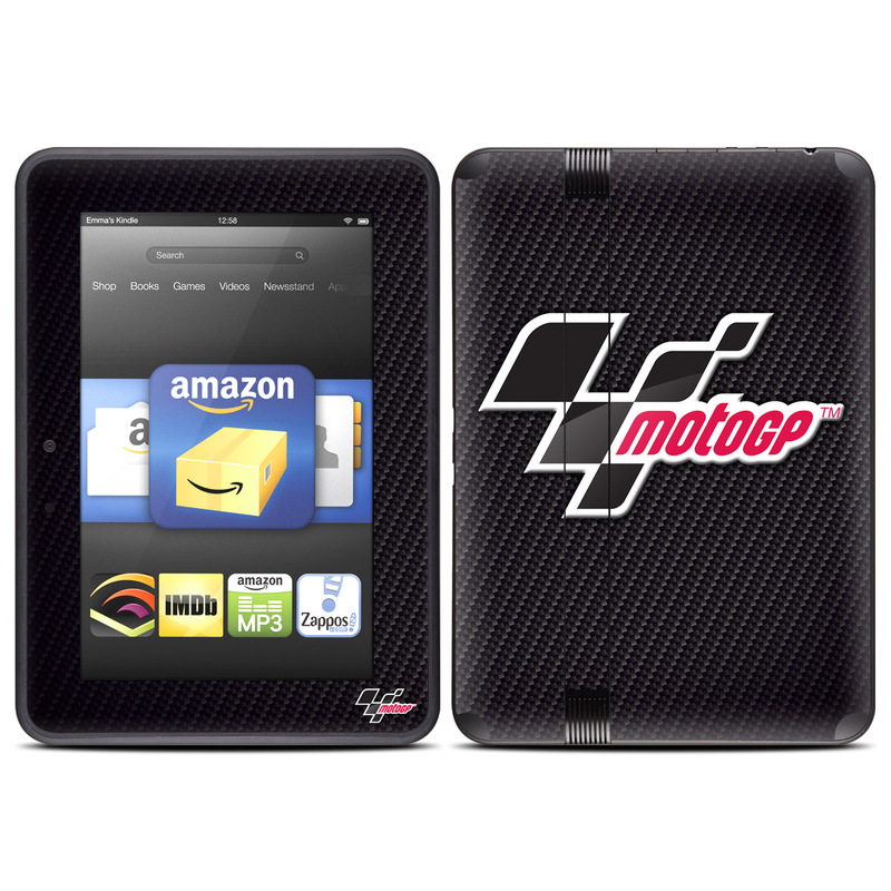 Amazon Kindle Fire HD (2012) Skin - MotoGP Carbon Logo by MotoGP | DecalGirl