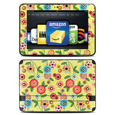 Amazon Kindle Fire HD 8.9 Skin - Button Flowers