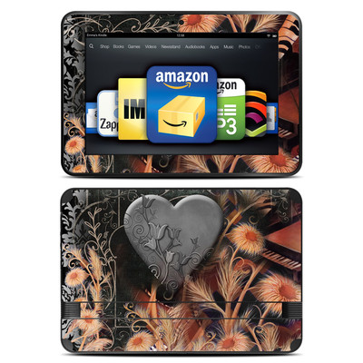 Amazon Kindle Fire HD 8.9 Skin - Black Lace Flower