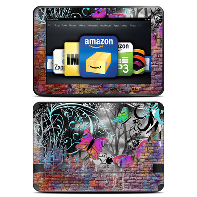 Amazon Kindle Fire HD 8.9 Skin - Butterfly Wall