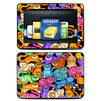 Amazon Kindle Fire HD 8.9 Skin - Colorful Kittens