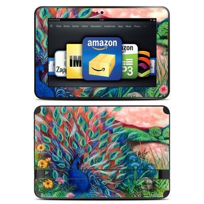 Amazon Kindle Fire HD 8.9 Skin - Coral Peacock