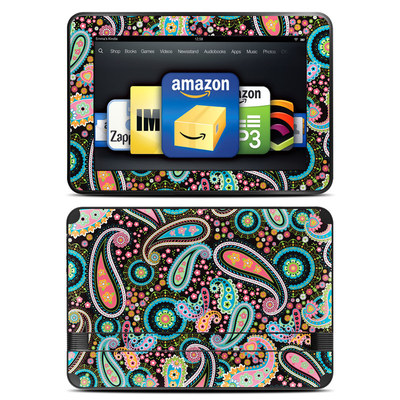 Amazon Kindle Fire HD 8.9 Skin - Crazy Daisy Paisley