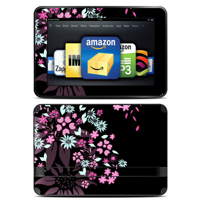 Amazon Kindle Fire HD 8.9 Skin - Dark Flowers