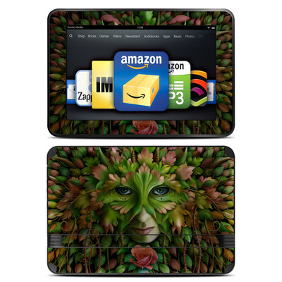 Amazon Kindle Fire HD 8.9 Skin - Green Woman