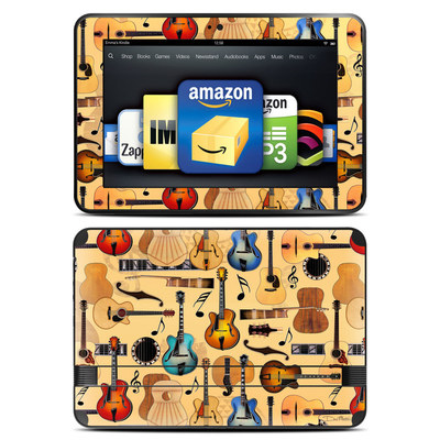 Amazon Kindle Fire HD 8.9 Skin - Guitar Collage