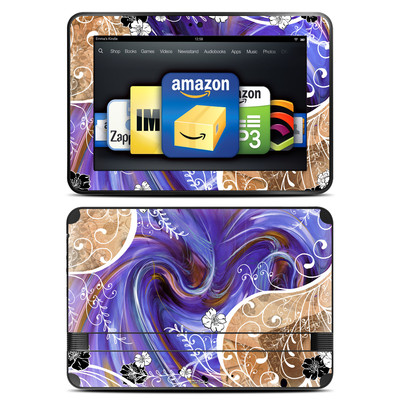 Amazon Kindle Fire HD 8.9 Skin - Purple Waves