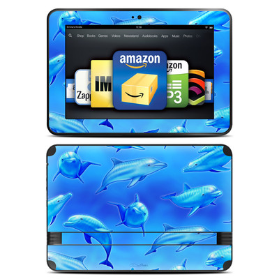 Amazon Kindle Fire HD 8.9 Skin - Swimming Dolphins