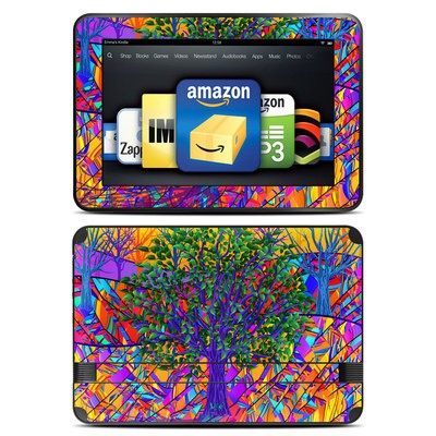 Amazon Kindle Fire HD 8.9 Skin - Stained Glass Tree