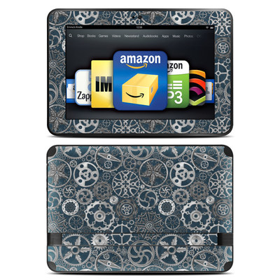 Amazon Kindle Fire HD 8.9 Skin - Silver Gears