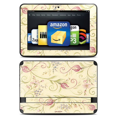 Amazon Kindle Fire HD 8.9 Skin - Tulip Scroll