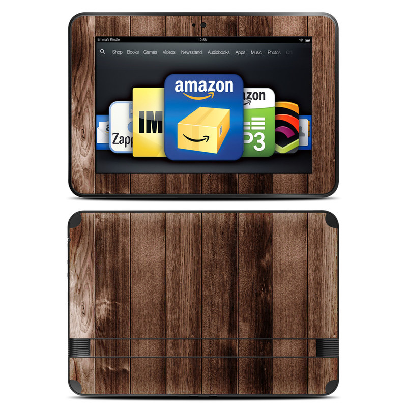 Original Kindle Paperwhite Skin Sticker Decal Stained Wood