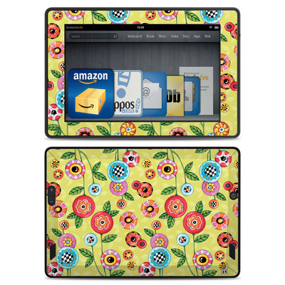 Amazon Kindle Fire HD Skin - Button Flowers