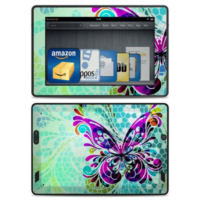Amazon Kindle Fire HD Skin - Butterfly Glass