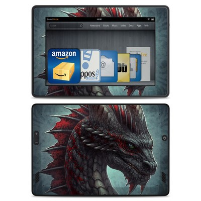 Amazon Kindle Fire HD Skin - Black Dragon