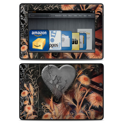Amazon Kindle Fire HD Skin - Black Lace Flower