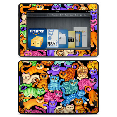 Amazon Kindle Fire HD Skin - Colorful Kittens