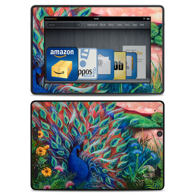 Amazon Kindle Fire HD Skin - Coral Peacock