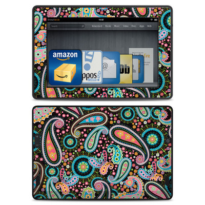 Amazon Kindle Fire HD Skin - Crazy Daisy Paisley