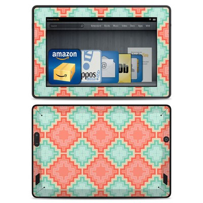 Amazon Kindle Fire HD Skin - Coral Diamond