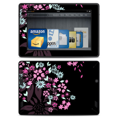 Amazon Kindle Fire HD Skin - Dark Flowers