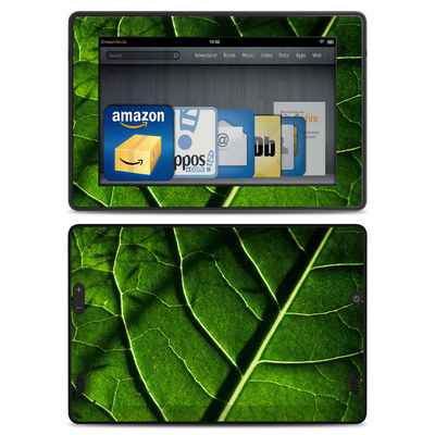 Amazon Kindle Fire HD Skin - Green Leaf