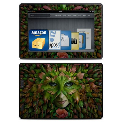 Amazon Kindle Fire HD Skin - Green Woman