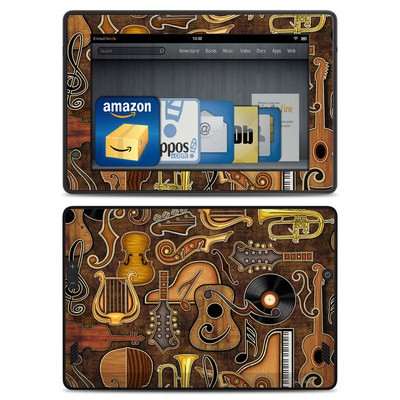 Amazon Kindle Fire HD Skin - Music Elements