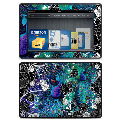 Amazon Kindle Fire HD Skin - Peacock Garden