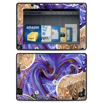 Amazon Kindle Fire HD Skin - Purple Waves
