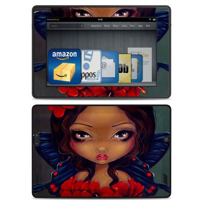 Amazon Kindle Fire HD Skin - Red Hibiscus Fairy
