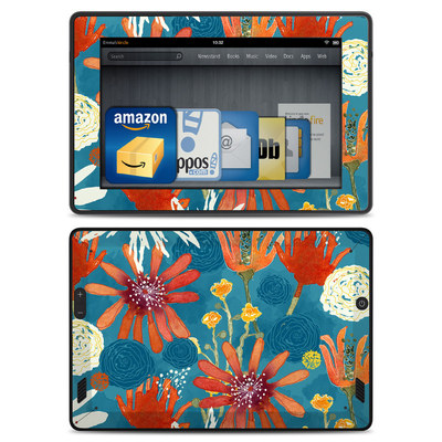 Amazon Kindle Fire HD Skin - Sunbaked Blooms