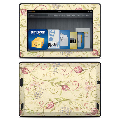 Amazon Kindle Fire HD Skin - Tulip Scroll