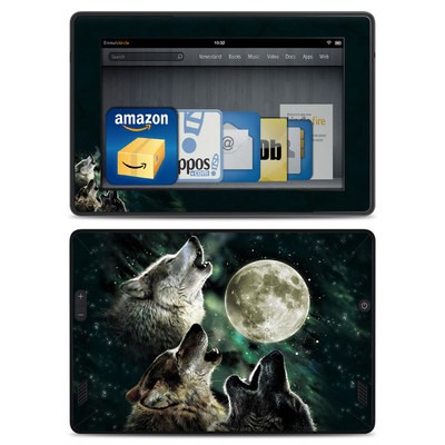 Amazon Kindle Fire HD Skin - Three Wolf Moon