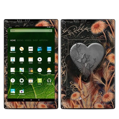 Amazon Kindle Fire HD10 2015 Skin - Black Lace Flower