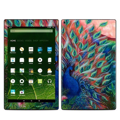 Amazon Kindle Fire HD10 2015 Skin - Coral Peacock
