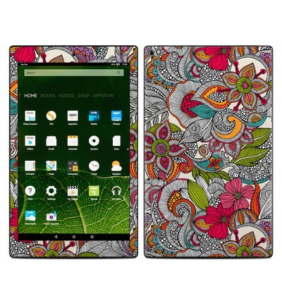 Amazon Kindle Fire HD10 2015 Skin - Doodles Color