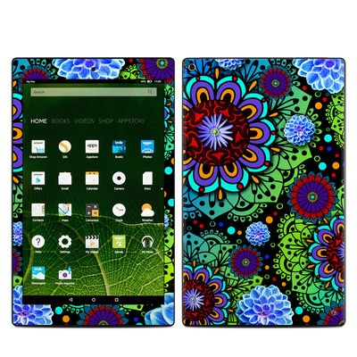 Amazon Kindle Fire HD10 2015 Skin - Funky Floratopia