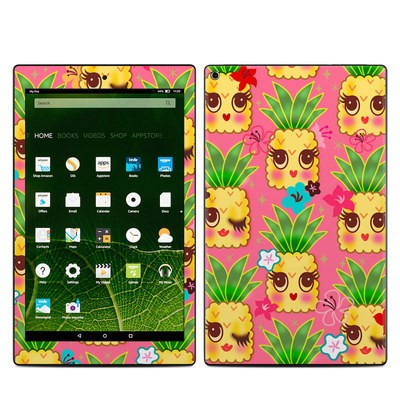 Amazon Kindle Fire HD10 2015 Skin - Happy Kawaii Pineapples