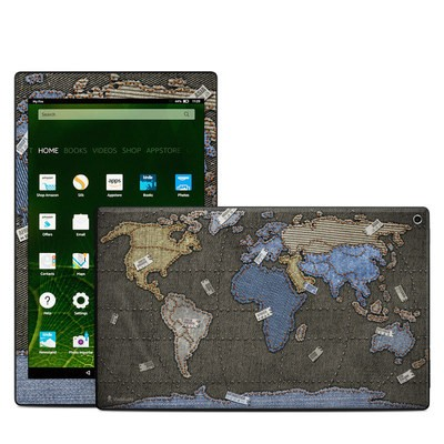 Amazon Kindle Fire HD10 2015 Skin - Jean Map