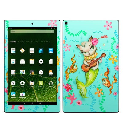Amazon Kindle Fire HD10 2015 Skin - Merkitten with Ukelele