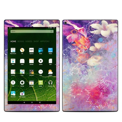 Amazon Kindle Fire HD10 2015 Skin - Sketch Flowers Lily